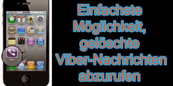 Wie zu erholen Viber Nachrichten von iPhone IOS auf Windows / Mac