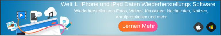 Probieren iOS Daten Wiederherstellungs Jetzt