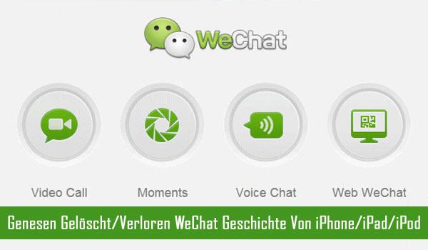 Genesen WeChat Geschichte vom iPhone
