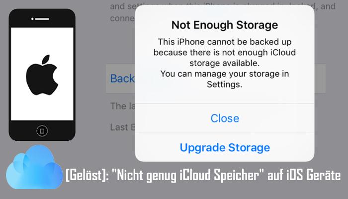 Wie Zu Fixieren Nicht genug iCloud Speicherfehler