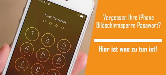 iPhone Bildschirm Passwort Entfernung Lösungen
