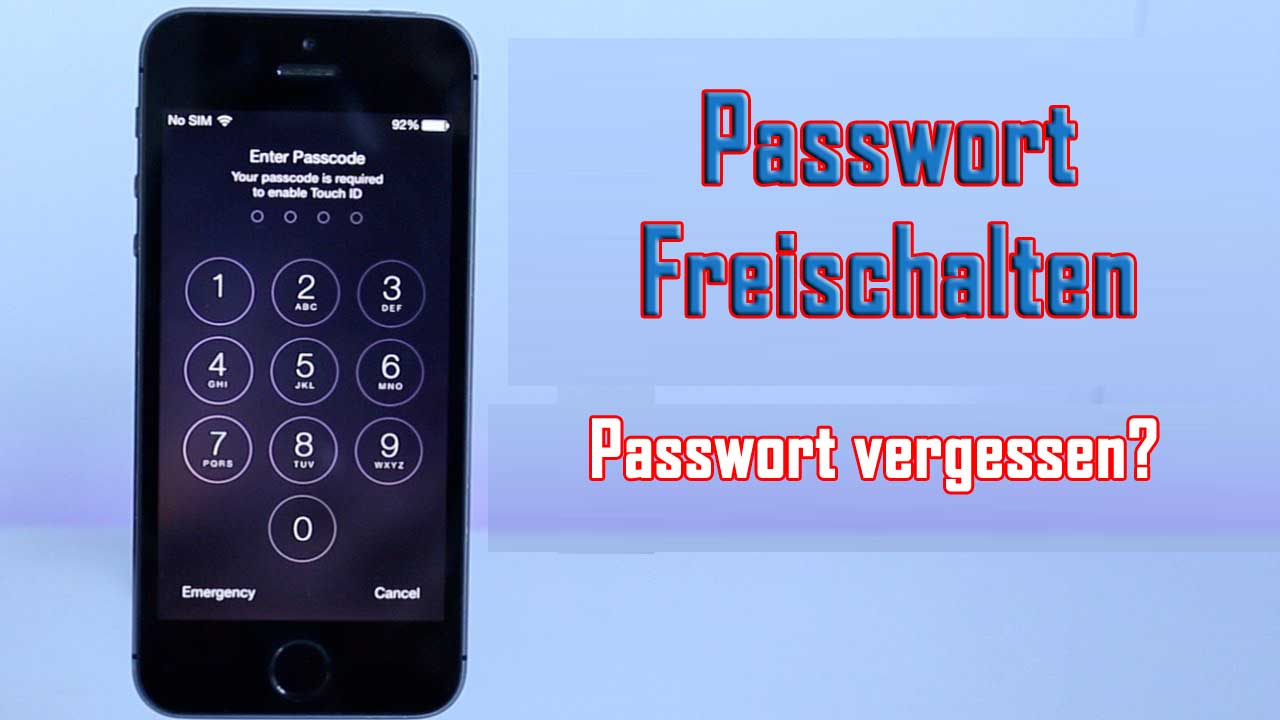 Entsperren iPhone Passwort ohne Wiederherstellung