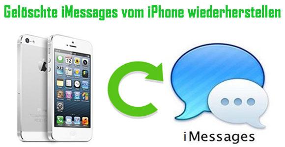 Wie gelöschte oder verlorene iMessages vom iPhone wiederherstellen