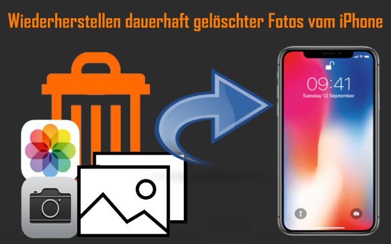 Wiederherstellen dauerhaft gelöschter Fotos vom iPhone