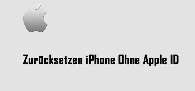 Wie Zu Zurücksetzen iPhone ohne Apple ID und Wiederherstellung verlorener Daten